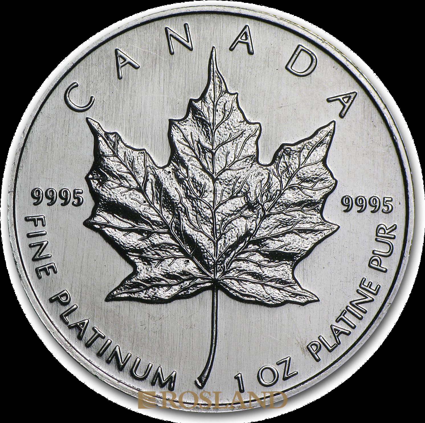 1 Unze Platinmünze Kanada Maple Leaf 1995