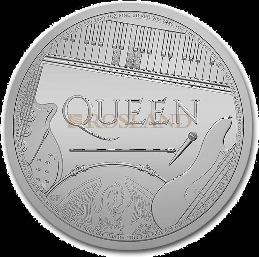 1 Unze Silbermünze GB Musiklegenden - Queen 2020