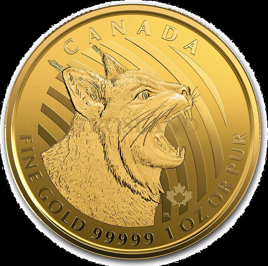 1 Unze Goldmünze Call of the Wild Rotluchs 2020 (.99999 Gold, Blister)
