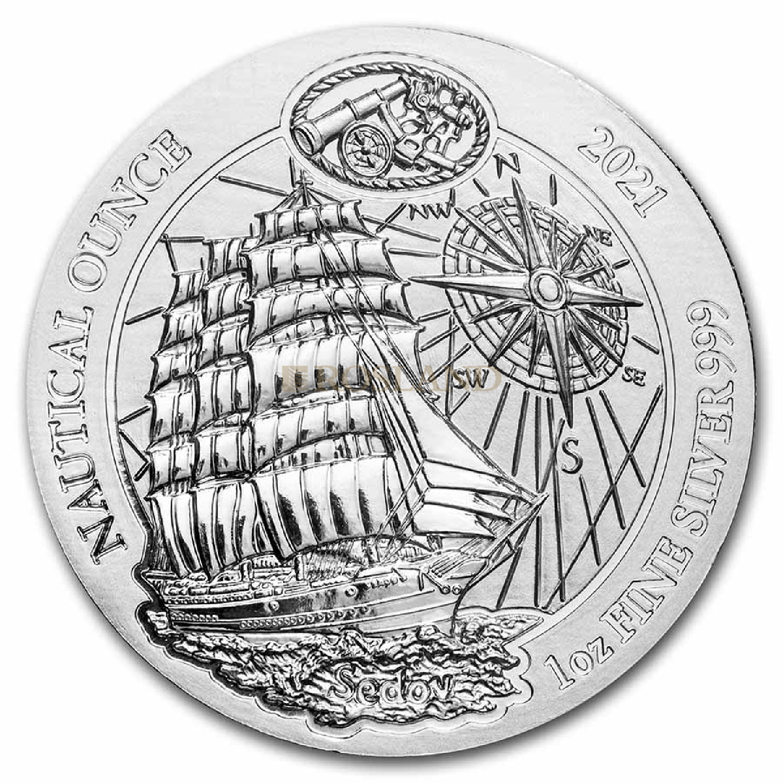 1 Unze Silbermünze Ruanda Nautical Sedov 2021