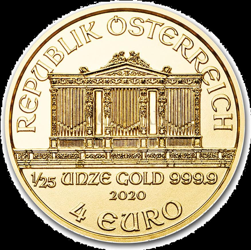 1/25 Unze Goldmünze Wiener Philharmoniker 2020