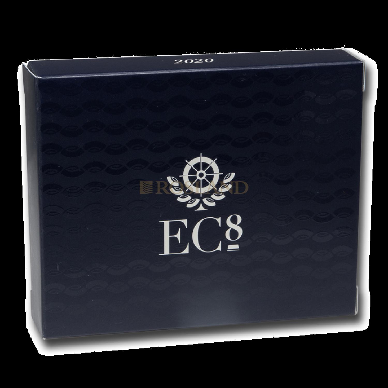 1 Unze Goldmünze EC8 Grenada Oktopus 2020 PP (Koloriert, Box, Zertifikat)