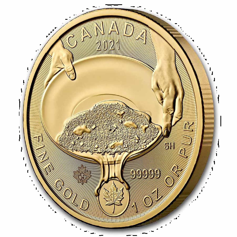 1 Unze Goldmünze Klondike Goldrausch 2021 (.99999 Gold, Blister)