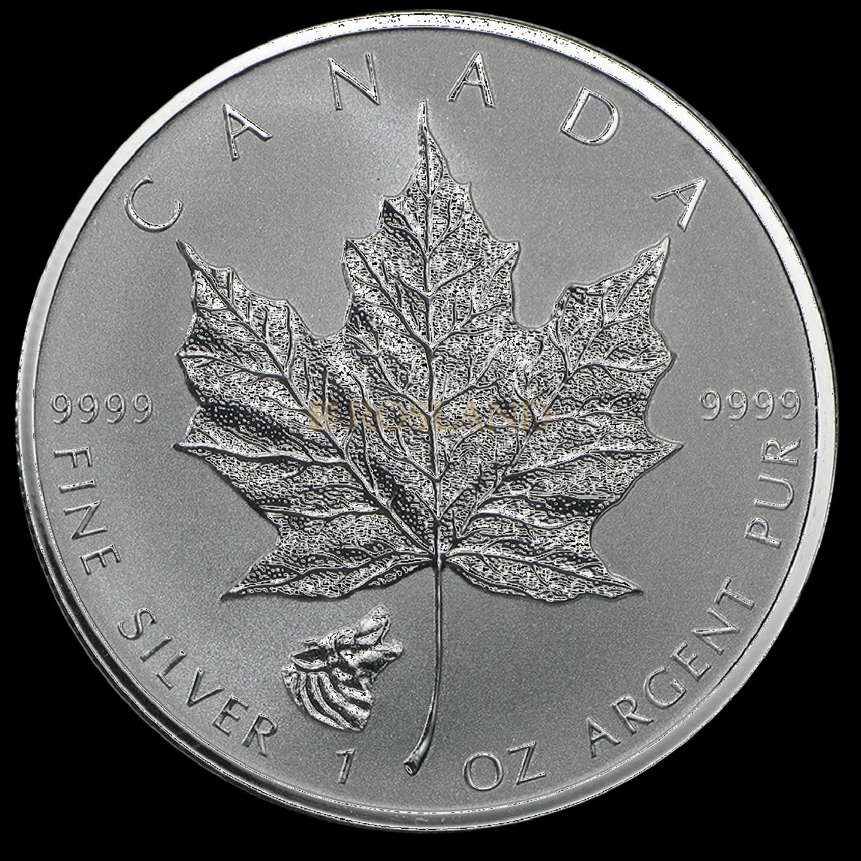 1 Unze Silbermünze Kanada Maple Leaf Wolf 2016 PP (Reverse Proof)