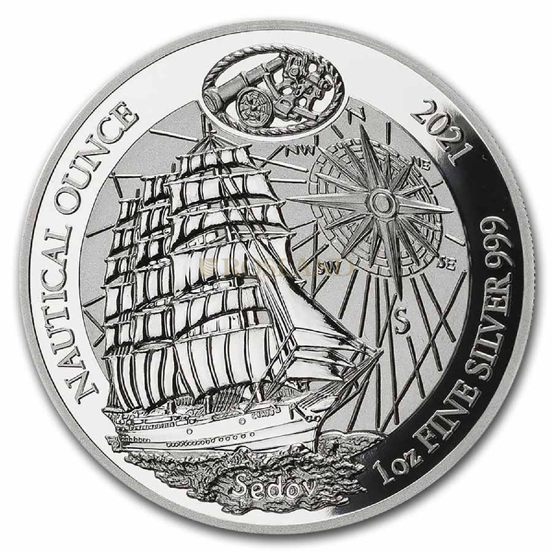 1 Unze Silbermünze Ruanda Nautical Sedov 2021 PP