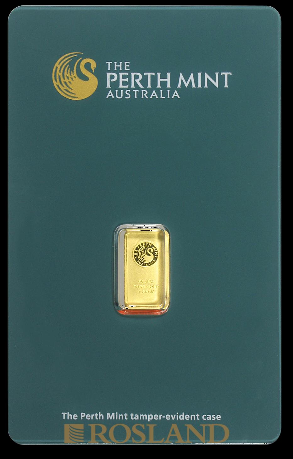 1 Gramm Goldbarren Perth Mint Classic