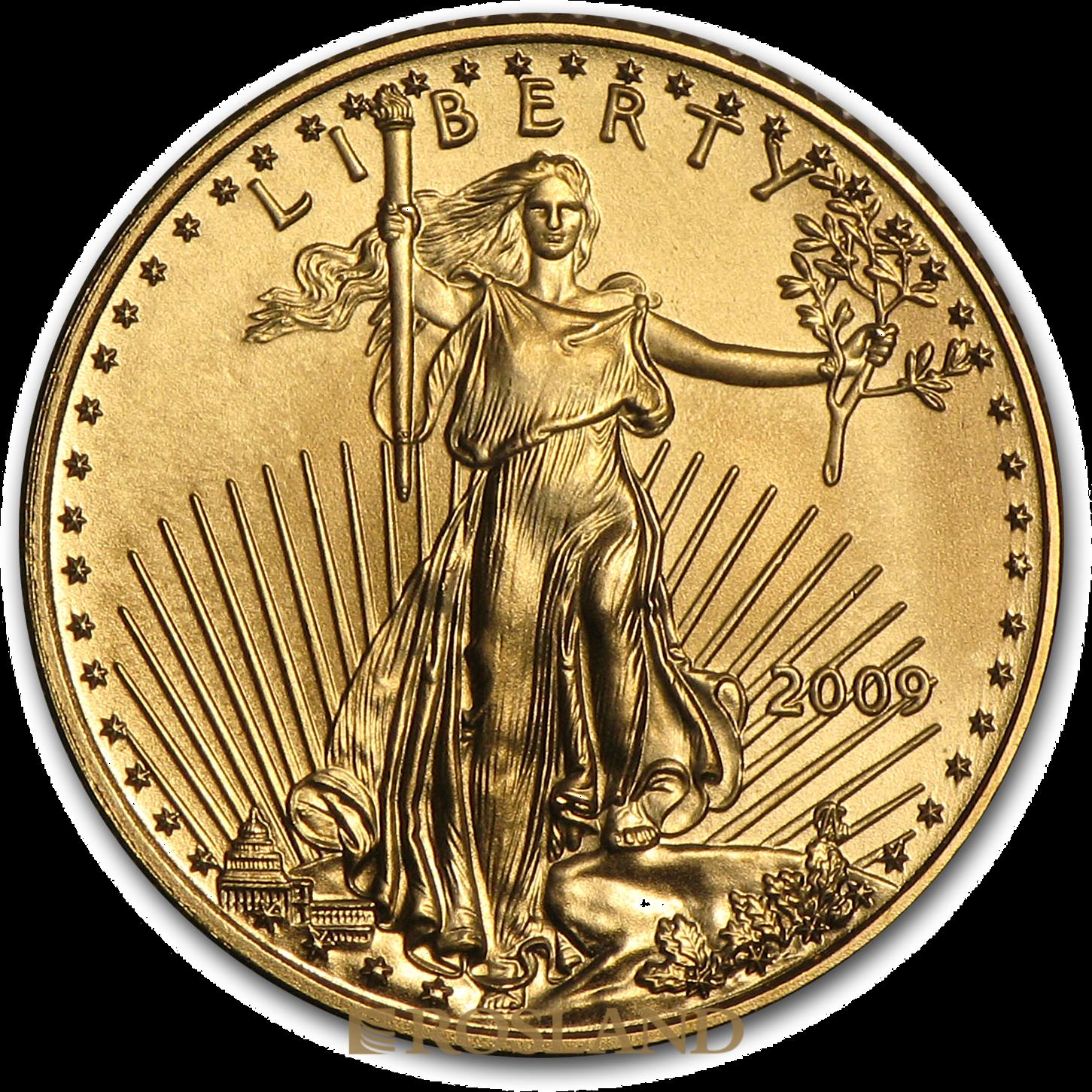 1/10 Unze Goldmünze American Eagle 2009