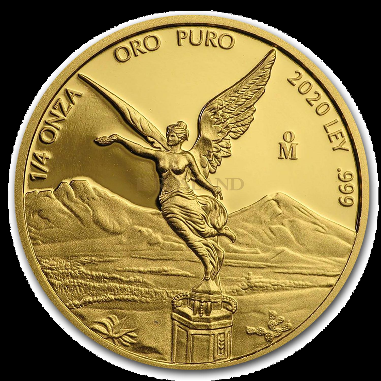 1/4 Unze Goldmünze Mexican Libertad 2020 PP