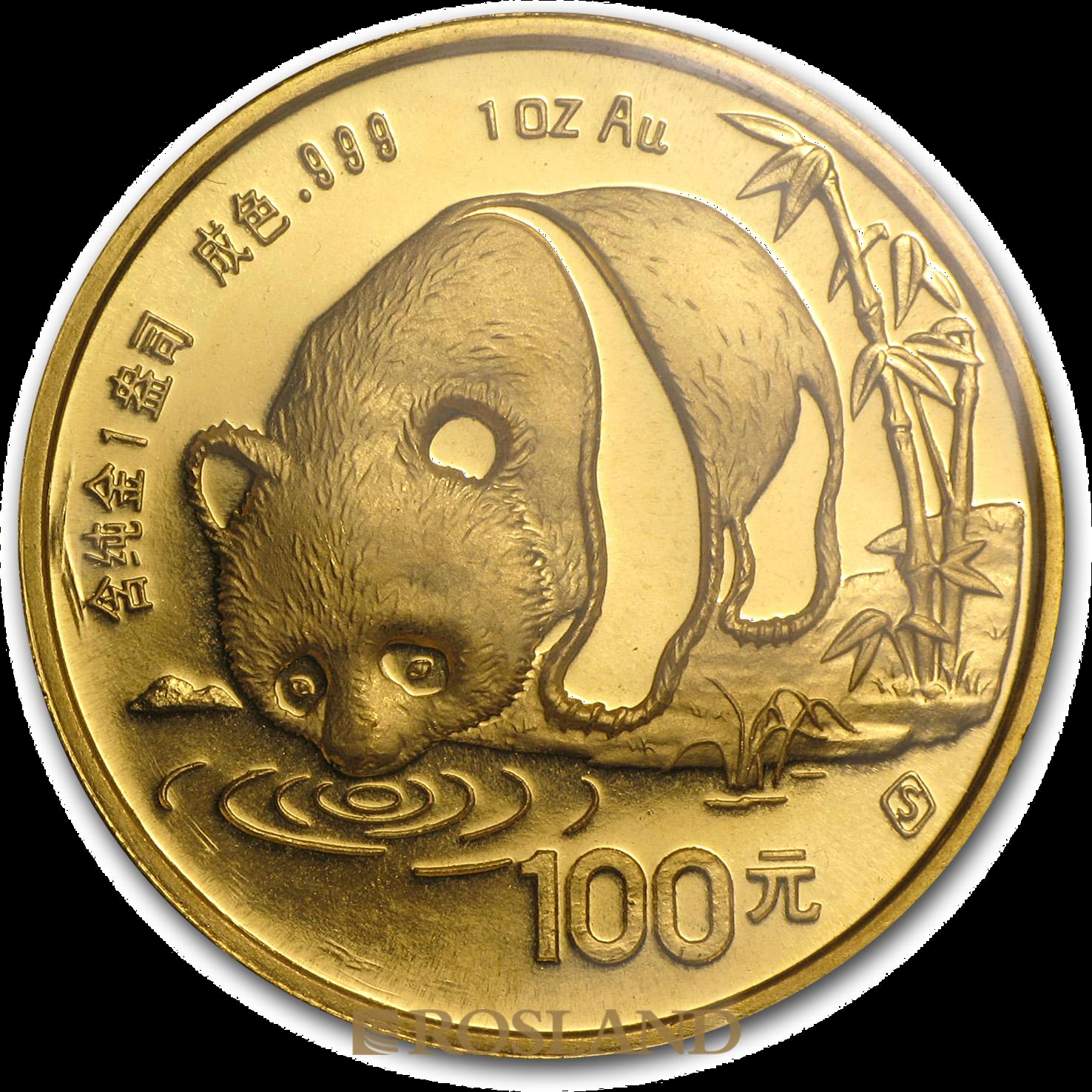 1 Unze Goldmünze China Panda (S) 1987