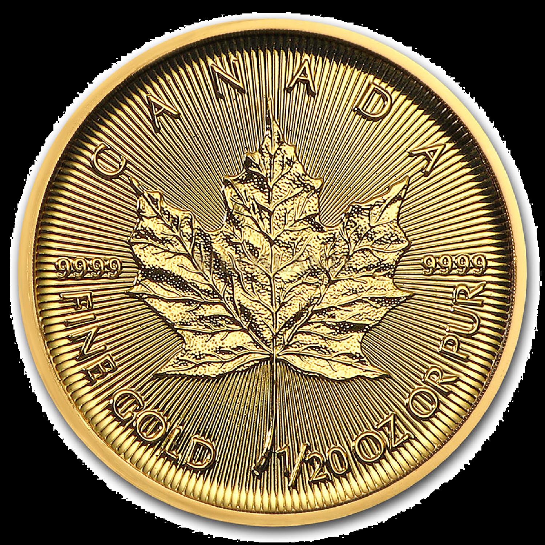 1/20 Unze Goldmünze Kanada Maple Leaf 2021