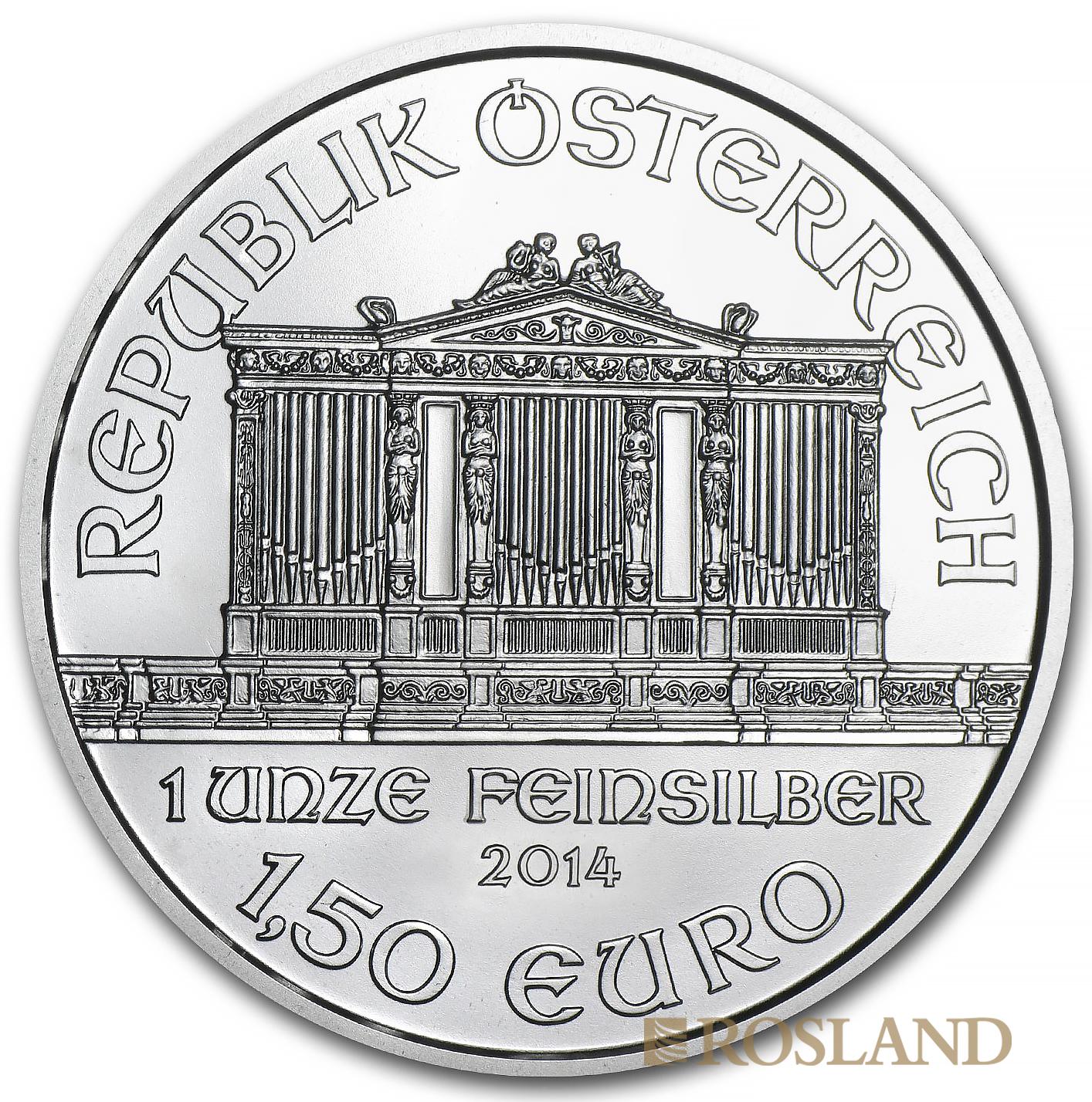1 Unze Silbermünze Wiener Philharmoniker 2014