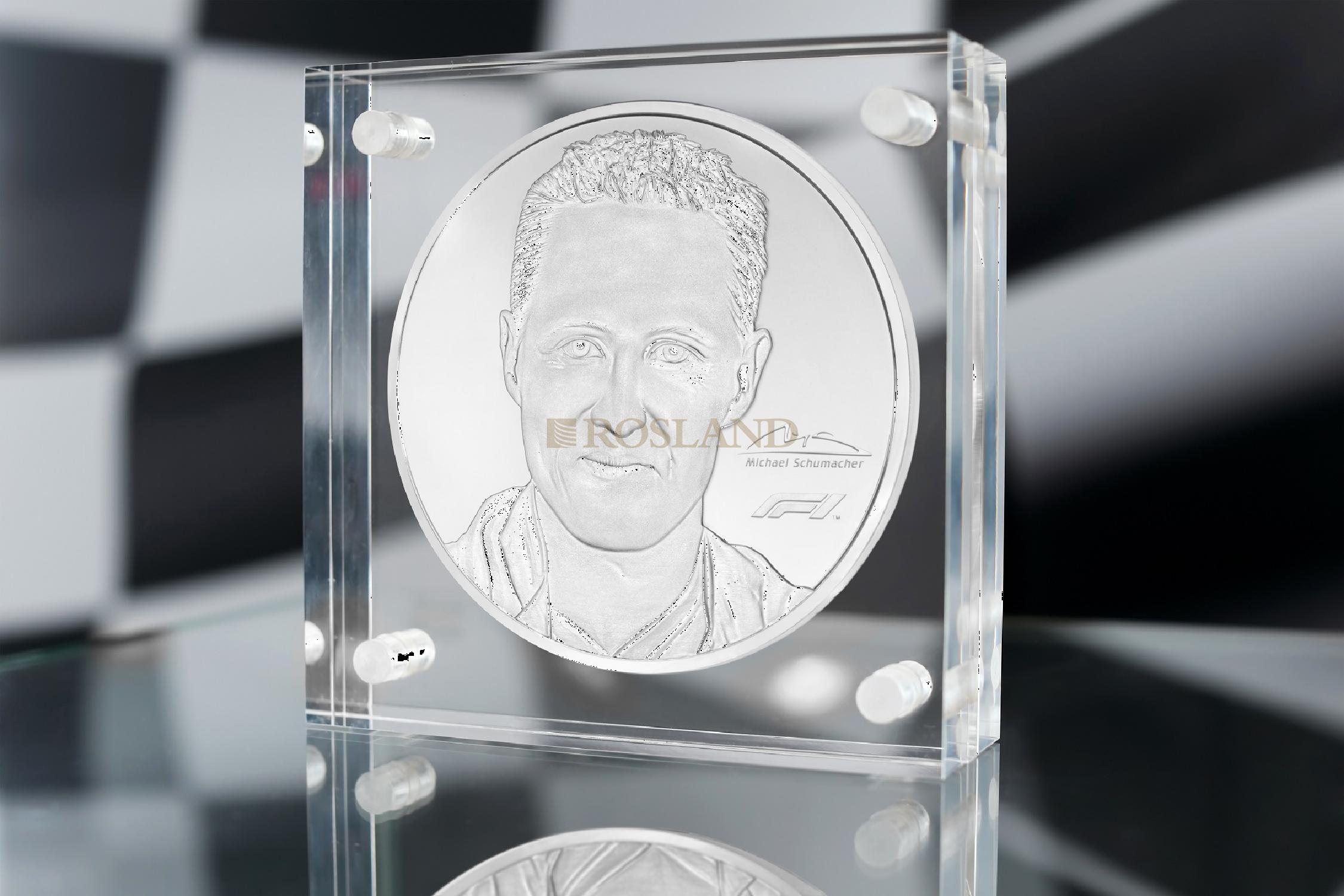 91 Unzen Silbermünze Michael Schumacher PP (Box, Zertifikat)