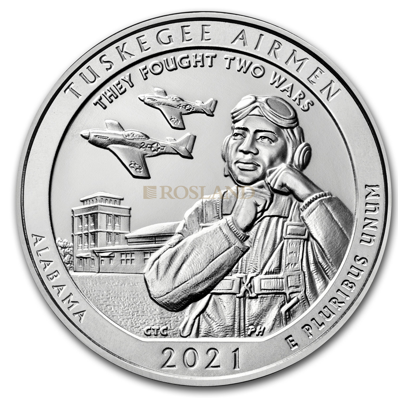 5 Unzen Silbermünze ATB Alabama Tuskegee Airmen 2021