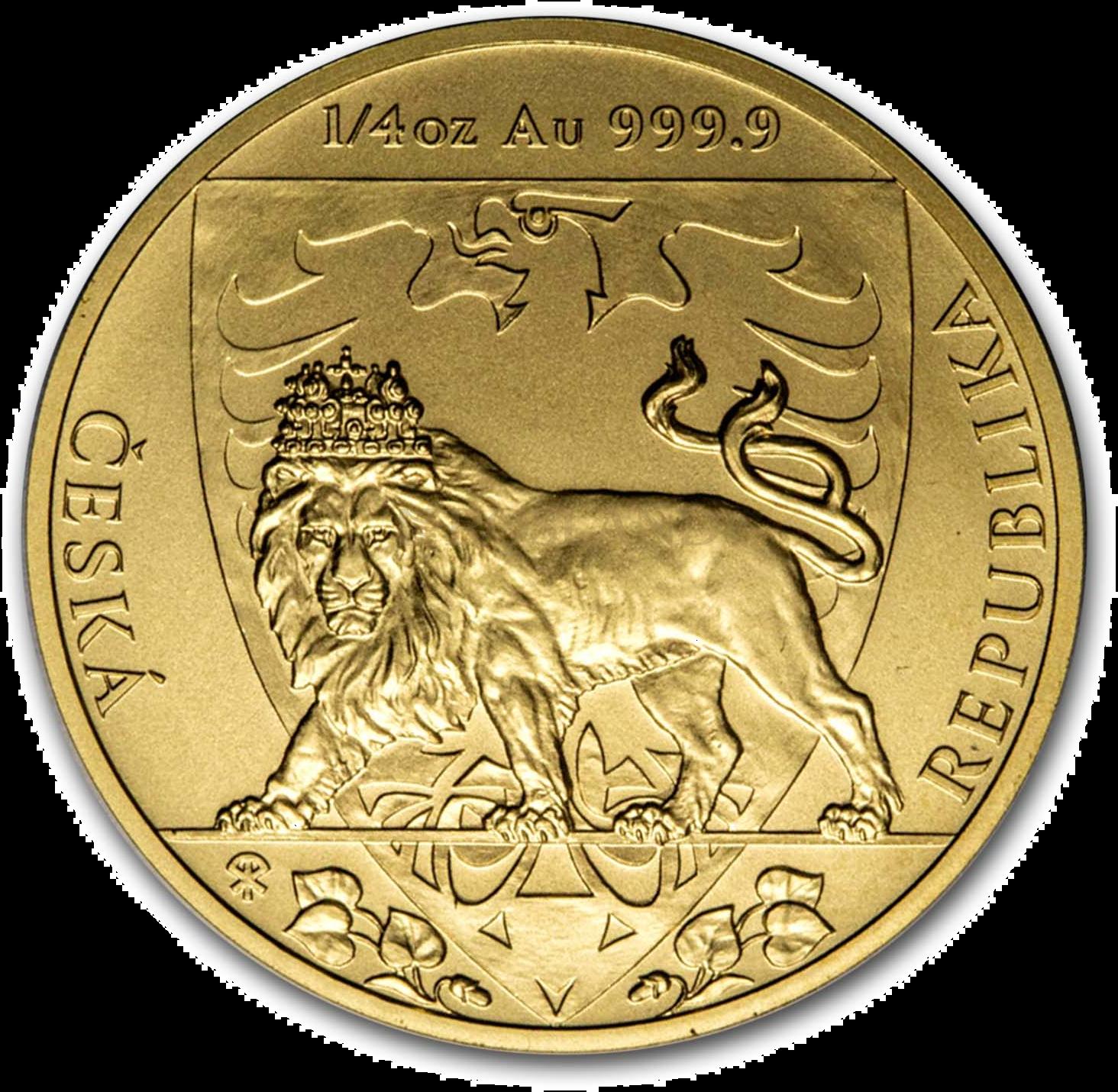 1/4 Unzen Goldmünze Tschechischer Löwe 2020