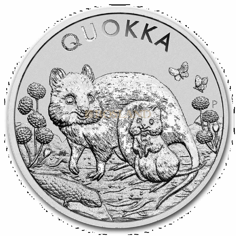 1 Unze Silbermünze Perth Mint Quokka 2021