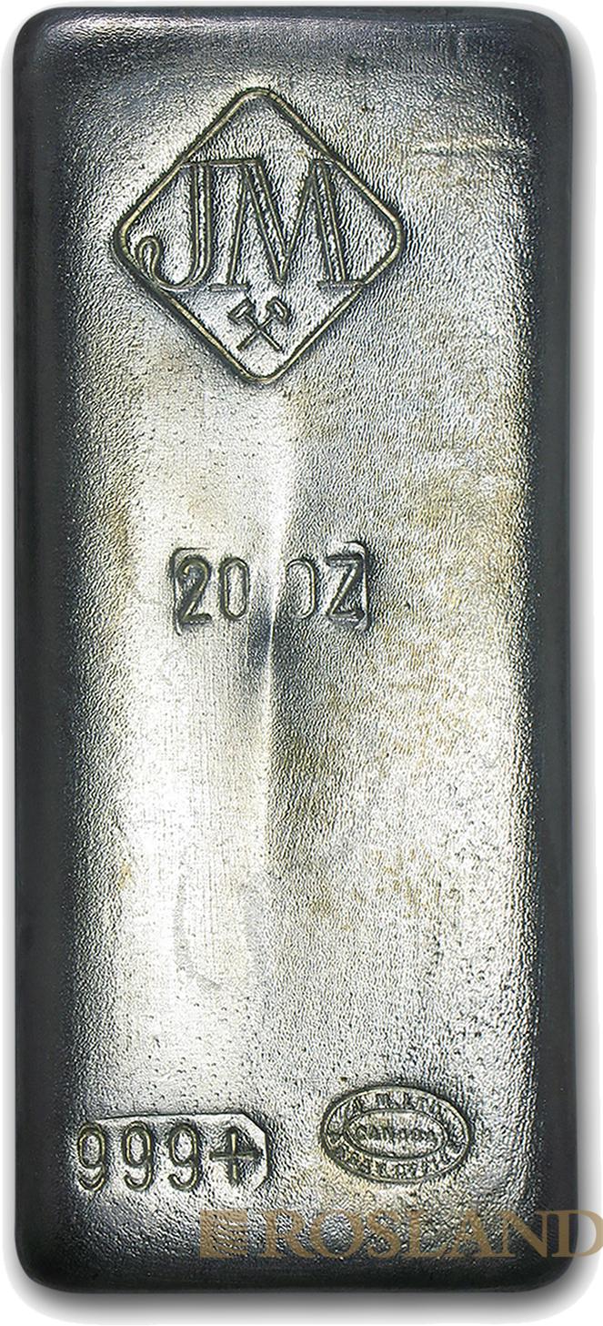20 Unzen Silberbarren Johnson Matthey Canada Vintage