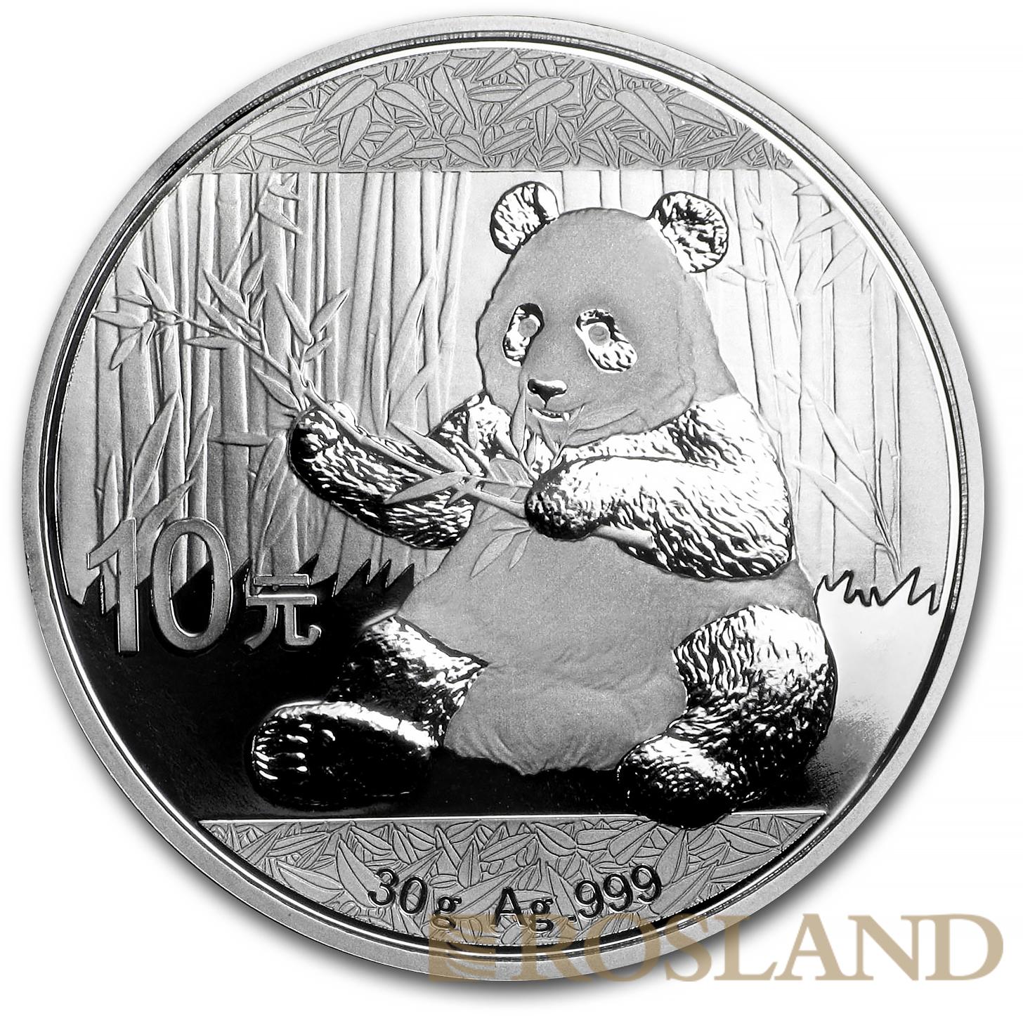 30 Gramm Silbermünze China Panda 2017
