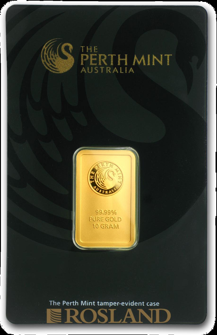 10 Gramm Goldbarren Perth Mint