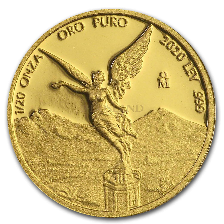 1/20 Unze Goldmünze Mexican Libertad 2020 PP