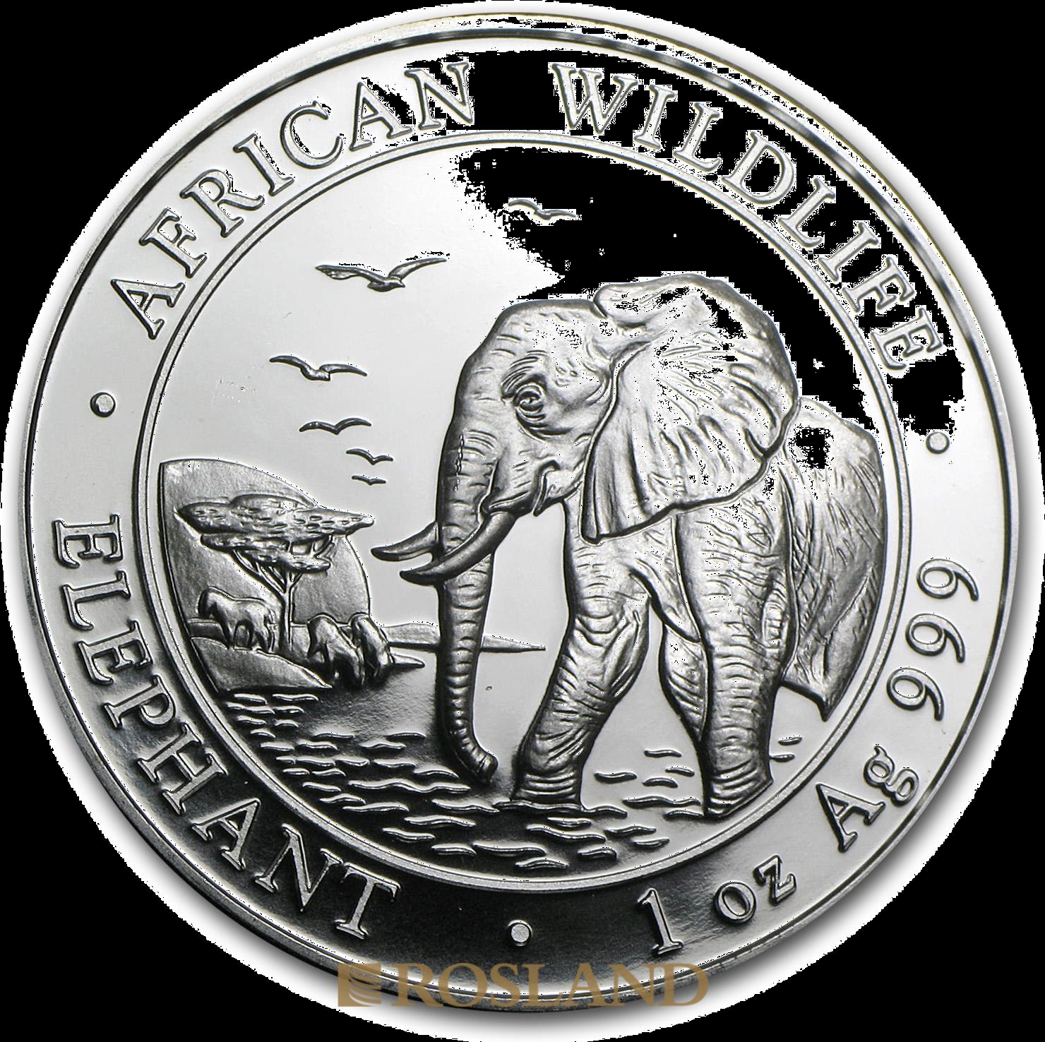 1 Unze Silbermünze Somalia Elefant 2010
