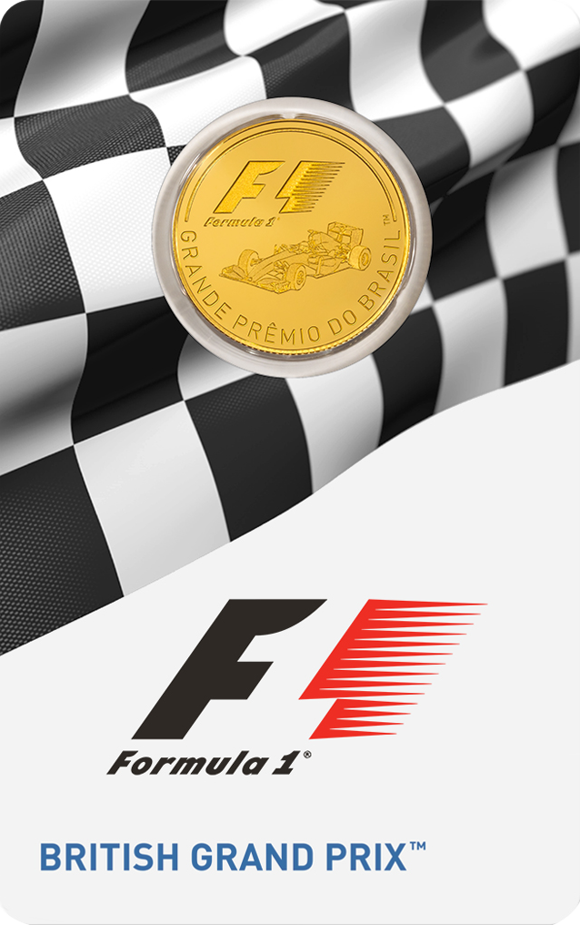 1/4 Unze Goldmünze Formel 1® British GP™ 2016 PP (Box, Zeritfikat)