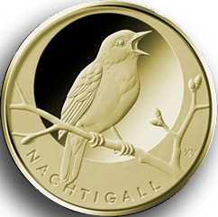 20 Euro Goldmünze Heimische Vögel - Nachtigall 2016 Hamburg (J)