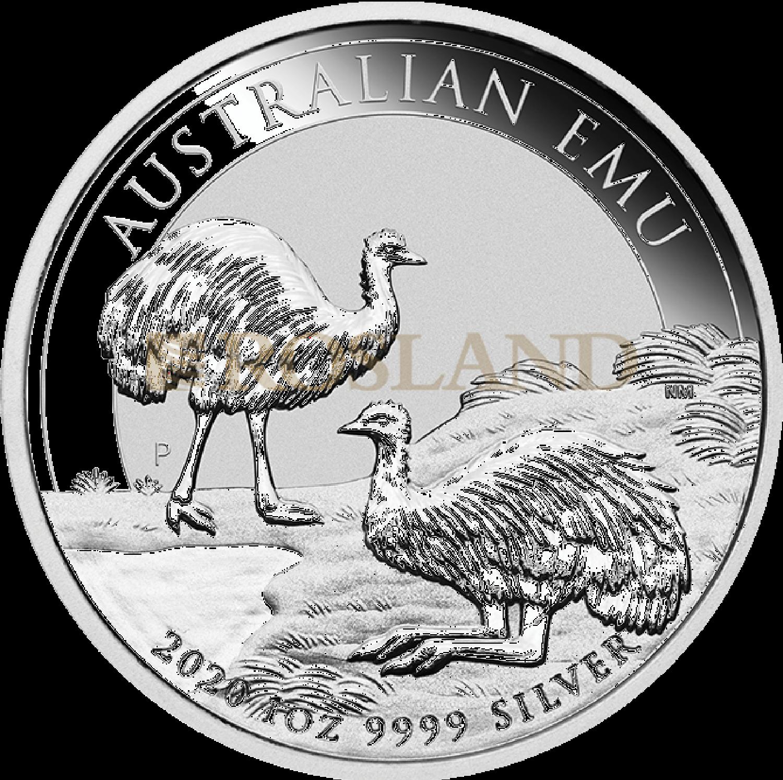 1 Unze Silbermünze Emu 2020