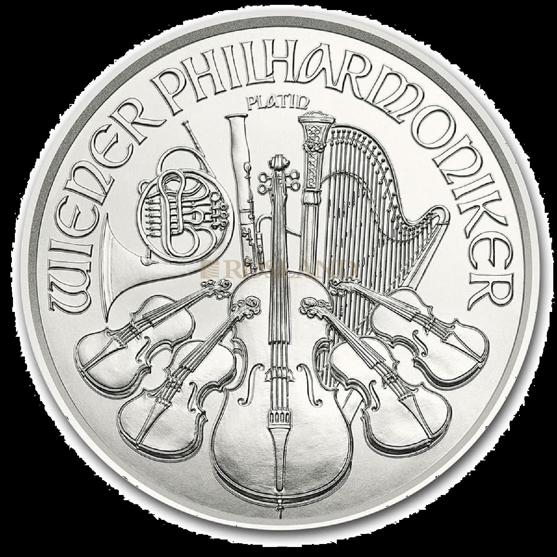 1/25 Unzen Platinmünze Wiener Philharmoniker 2020