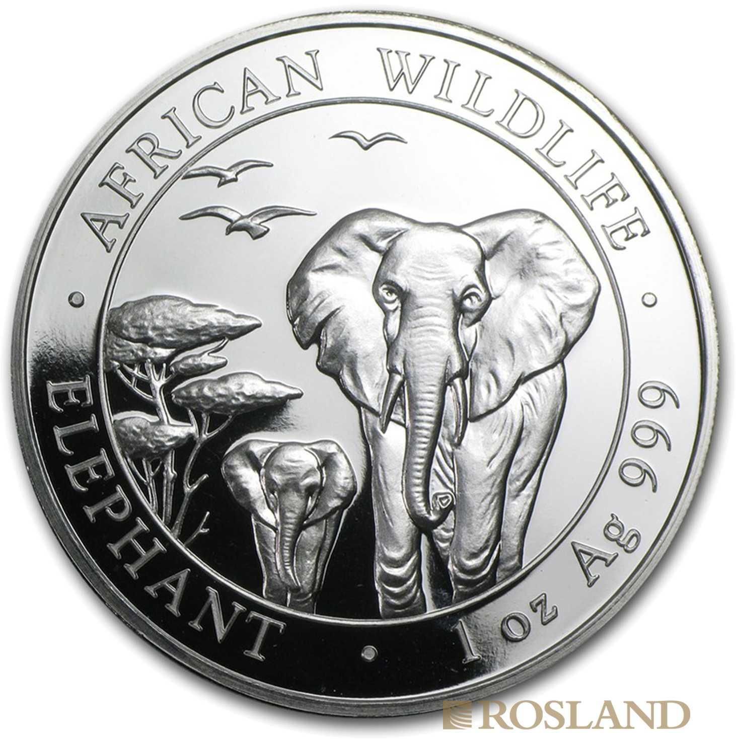 1 Unze Silbermünze Somalia Elefant 2015