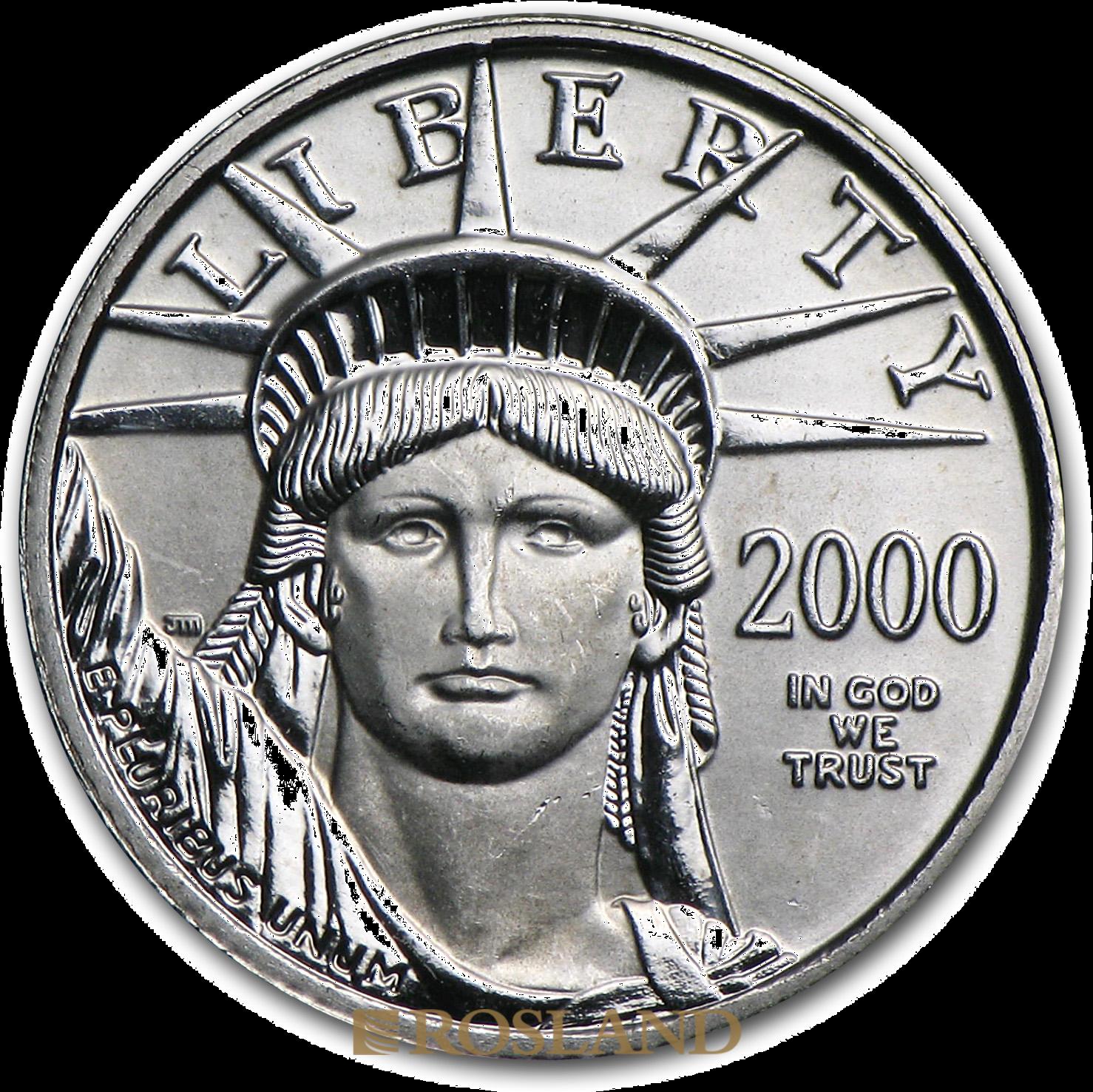 1/10 Unze Platinmünze American Eagle 2000