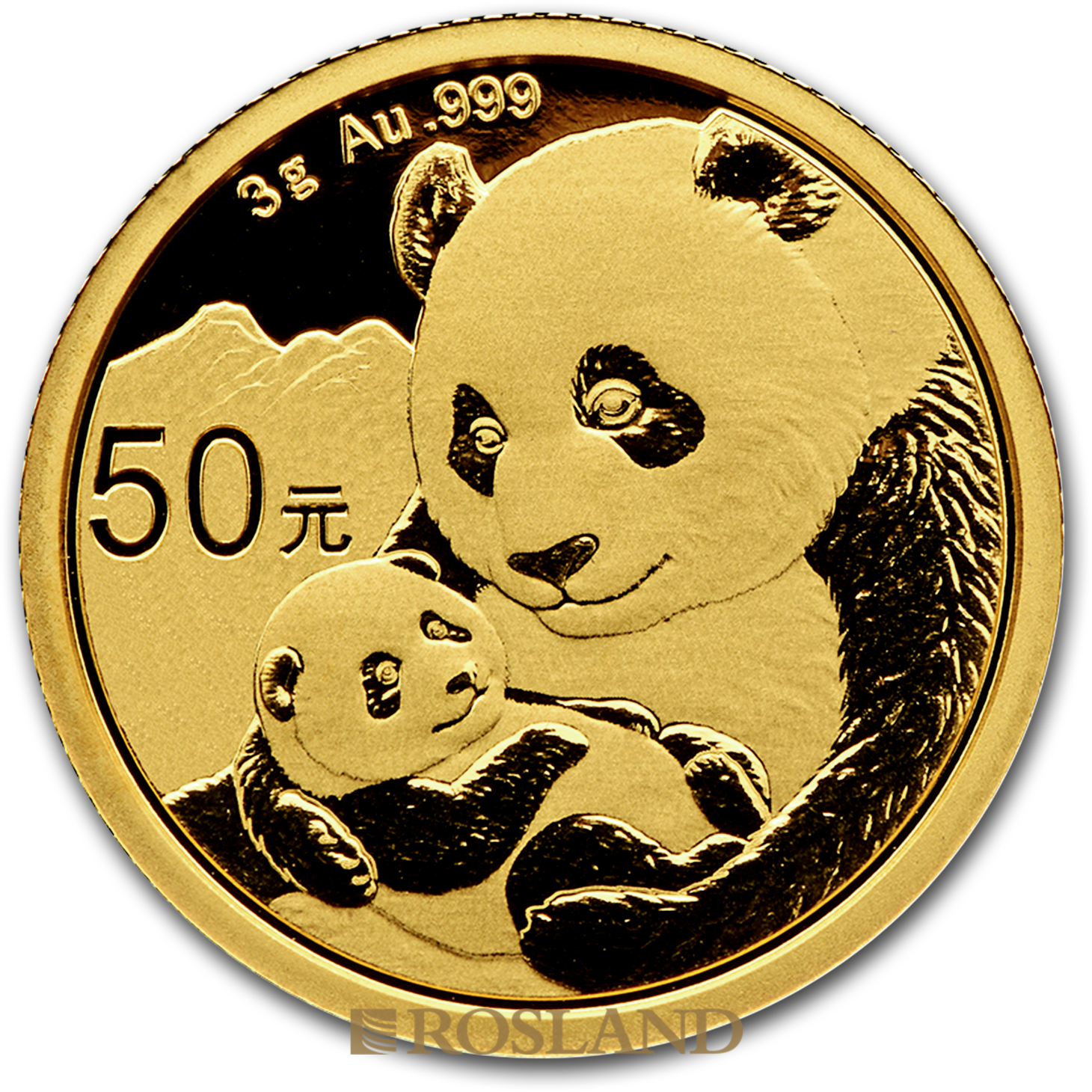 3 Gramm Goldmünze China Panda 2019