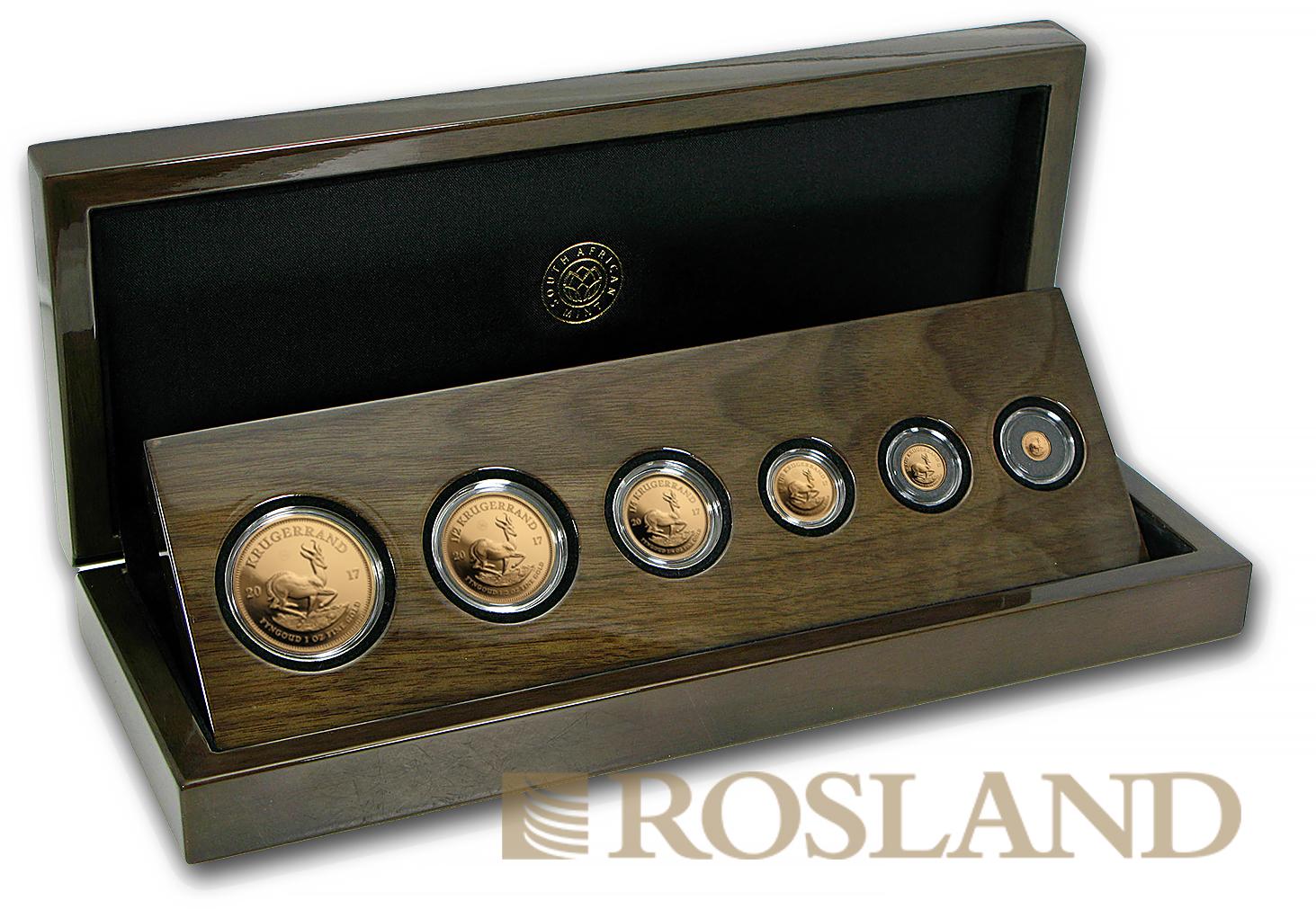 1,92 Unzen 6 Goldmünzen Krügerrand Prestige Set 2017 50 Jahre PP (Box, Zertifikat)