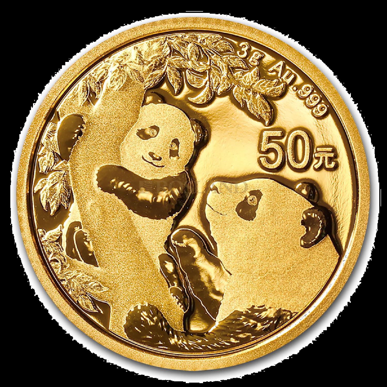 3 Gramm Goldmünze China Panda 2021