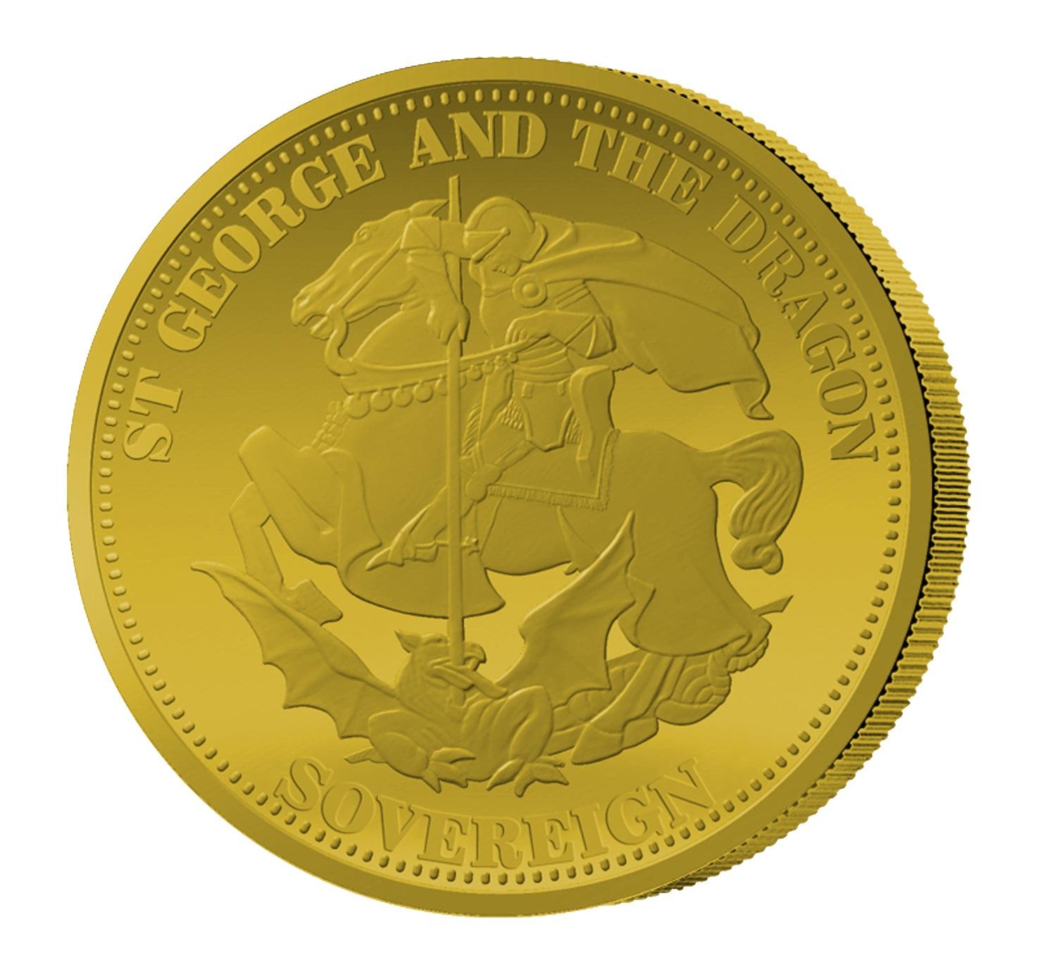 1 Sovereign Goldmünze St. Georg und der Drache 2015