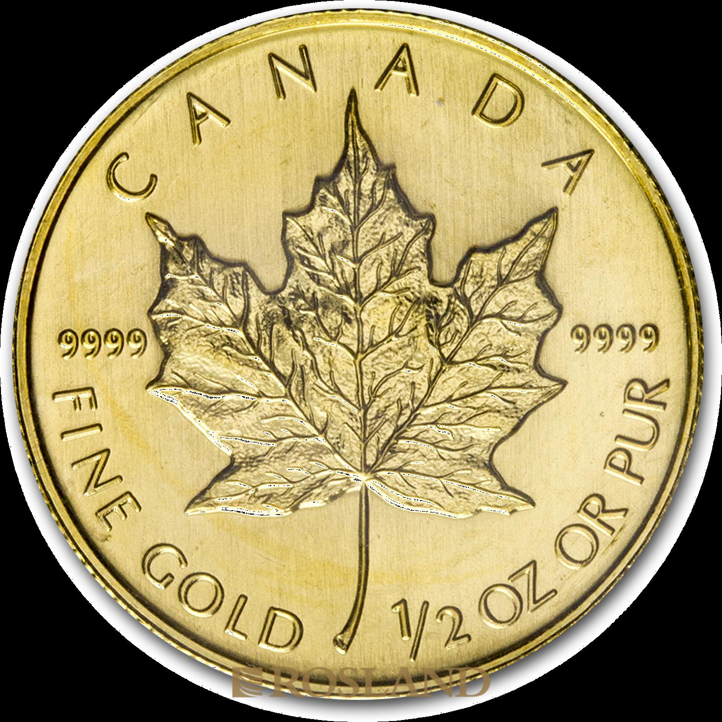 1/2 Unze Goldmünze Kanada Maple Leaf 2008