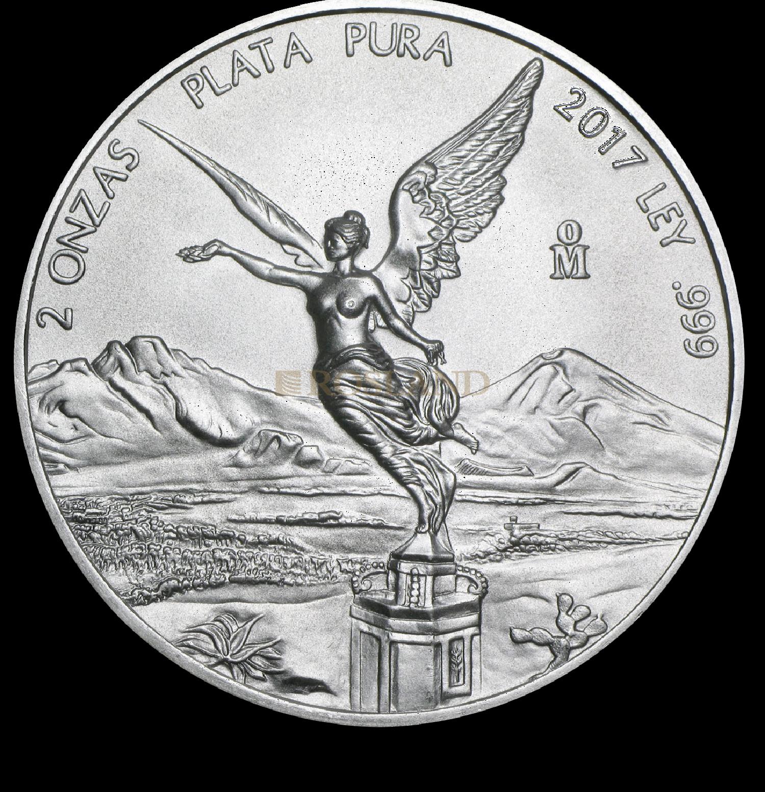 2 Unzen Silbermünze Mexican Libertad 2017