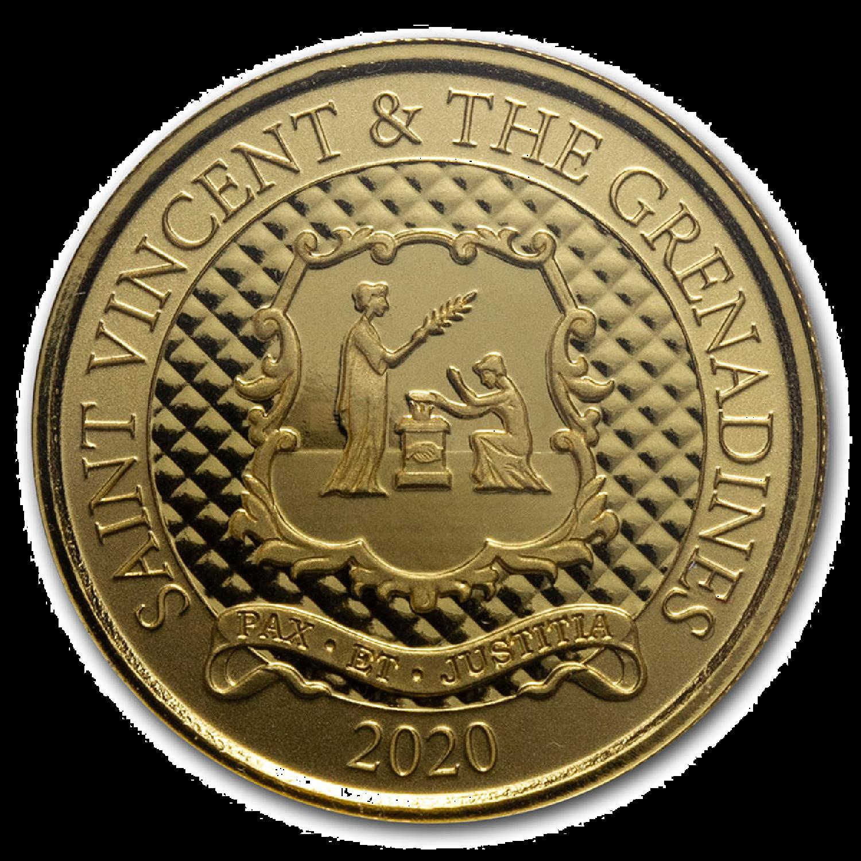 1 Unze Goldmünze EC8 St. Vincent & The Grenadines Pax Et Justitia 2020 (Blister, Zertifikat)