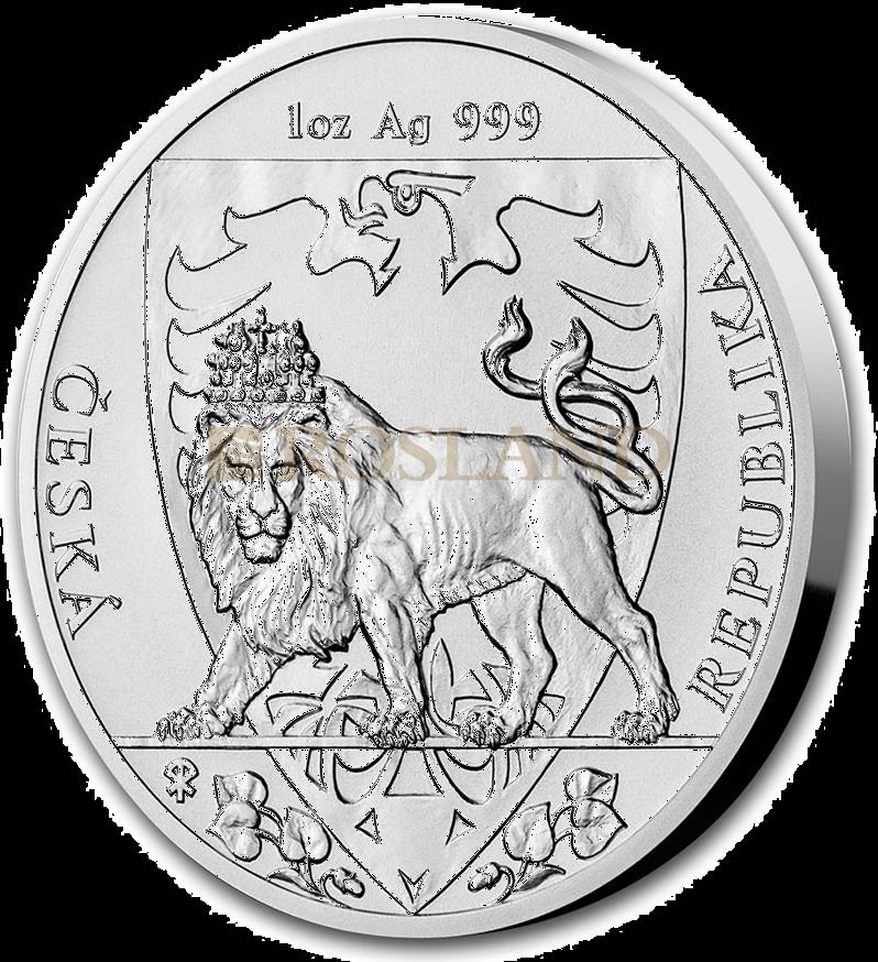 1 Unze Silbermünze Tschechischer Löwe 2020