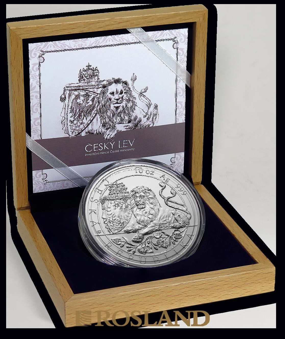 10 Unzen Silbermünze Tschechischer Löwe 2019