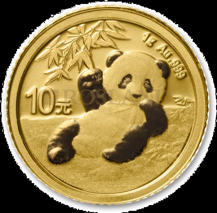 1 Gramm Goldmünze China Panda 2020