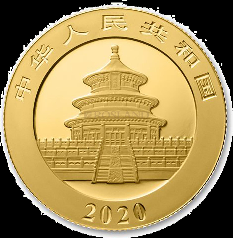 8 Gramm Goldmünze China Panda 2020