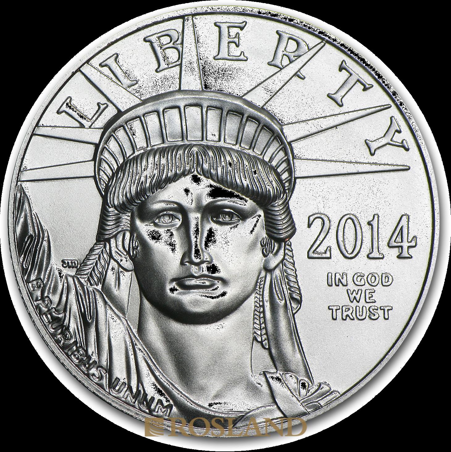 1 Unze Platinmünze American Eagle 2014