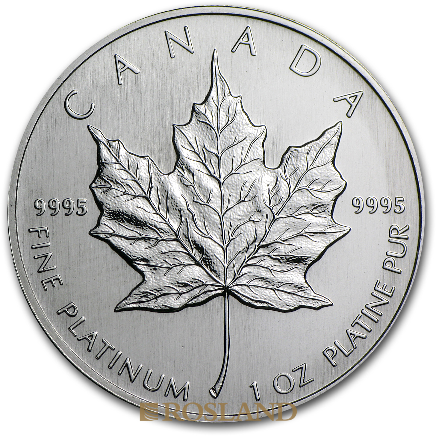 1 Unze Platinmünze Kanada Maple Leaf 1994