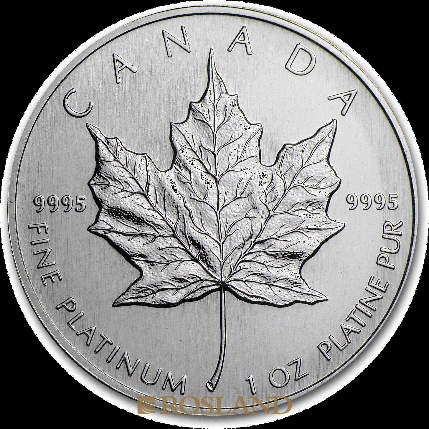 1 Unze Platinmünze Kanada Maple Leaf 1994