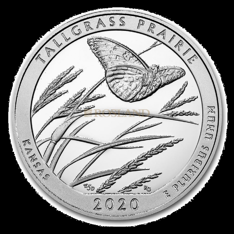 5 Unzen Silbermünze ATB Tallgrass Prairie National Preserve 2020