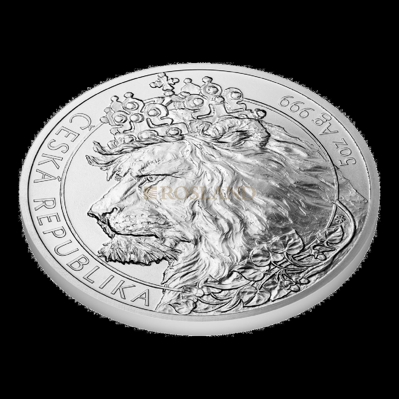 5 Unzen Silbermünze Tschechischer Löwe 2021
