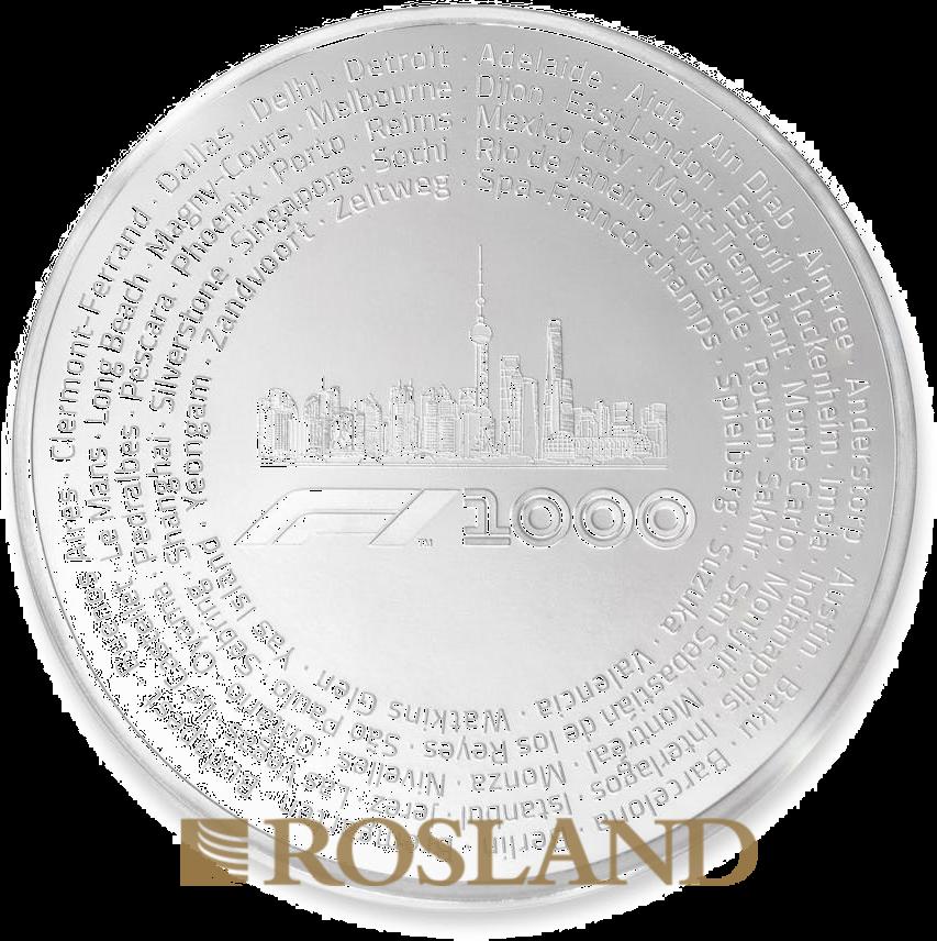 1 Kilogramm Silbermünze Formel 1® 1000 2019 PP (Box, Zertifikat)