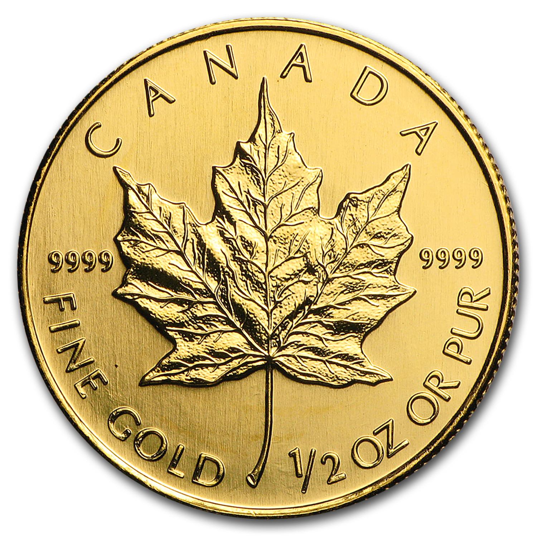 1/2 Unze Goldmünze Kanada Maple Leaf 2007