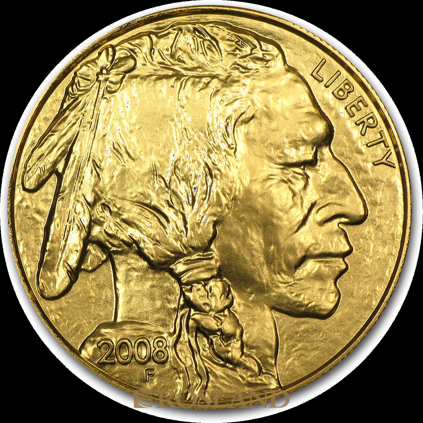 1 Unze Goldmünze American Buffalo 2008