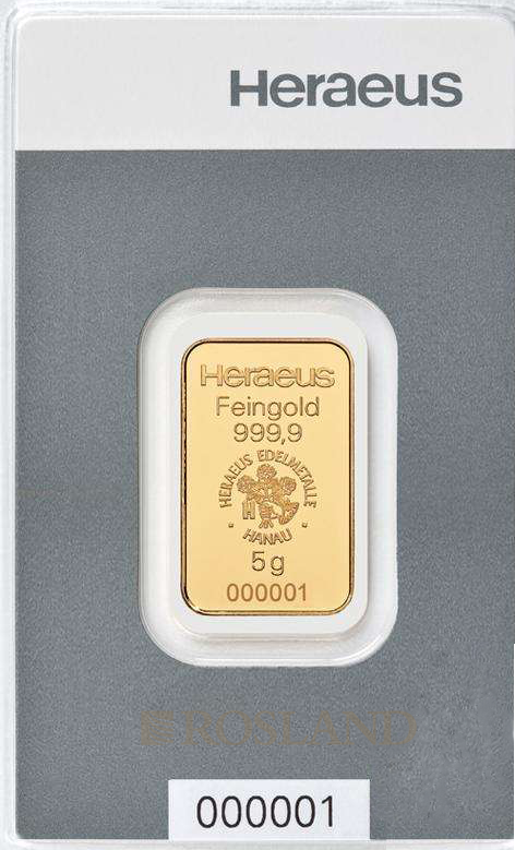 10 Gramm Goldbarren Heraeus
